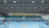 The light contracting model for the sport centre in Hard on Lake Constance includes all services for upgrading the lighting. The result: better, more efficient LED lighting that also saves money by reducing energy and maintenance costs.