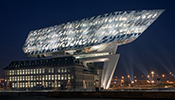 Tridonic: At the heart of the lighting system of the Havenhuis Antwerp in Belgium are Tridonic LED Light Engines and LED Drivers. The special glass structure of the building was designed by Zaha Hadid Architects.