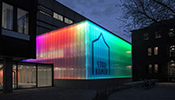 acdc: acdc turned the back lit facade of Stadkamer into something spectacular. The luminaire is mounted at the top of the glass curtain wall 7.7m high, the narrow elliptical beam creates an even light from top to bottom helped by a mirror mounted...