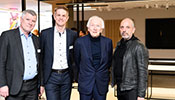 From left: CEO Zumtobel Group Alfred Felder, Marc-André Rusch, General Manager Zumtobel Switzerland, Supervisory Board Chairman Jürg Zumtobel and EOOS-Designer Harald Gründl.