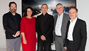 From left: Patrick Lüth, Snøhetta | Gudrun Schach, Brand Manager Zumtobel DACH | Roman Delugan, Delugan Meissl Architekten | Alfred Felder, Acting President of the Executive Board | Heinrich Sachs, Managing Director Sales Austria, Zumtobel Group