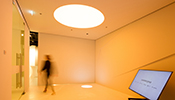 In the light experience space light is shown as a material and as pure matter in a completely brand-neutral way.
